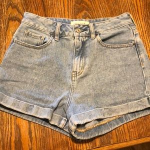 Pac sun high waisted shorts size 25